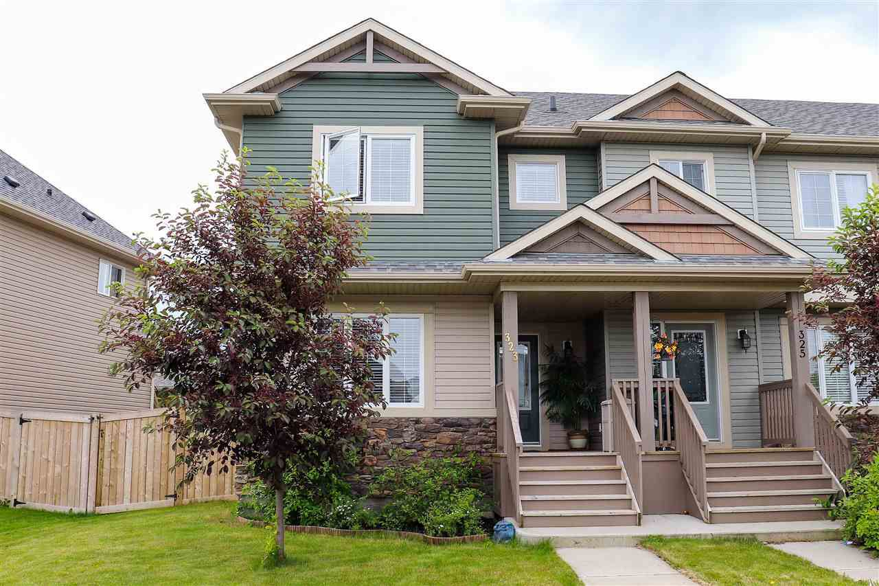 Main Photo: 323 NELSON Drive: Spruce Grove Attached Home for sale : MLS®# E4164984