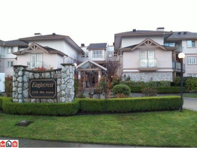 "Main Photo: 122 22150 48TH Avenue in Langley: Murrayville Condo for sale in ""EAGLECREST"" : MLS®# F1126874"