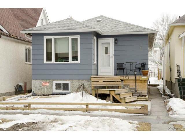 Main Photo: 531 Lipton Street in WINNIPEG: West End / Wolseley Residential for sale (West Winnipeg)  : MLS®# 1505517