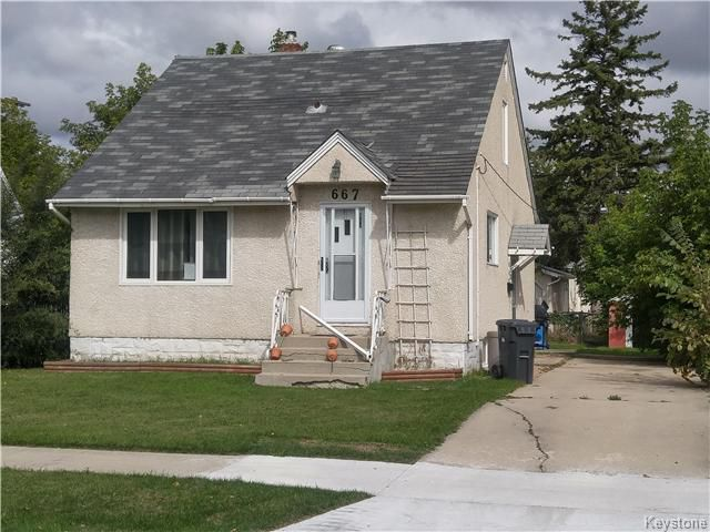 Main Photo: 667 Manhattan Avenue in Winnipeg: East Elmwood Residential for sale (3B)  : MLS®# 1624621