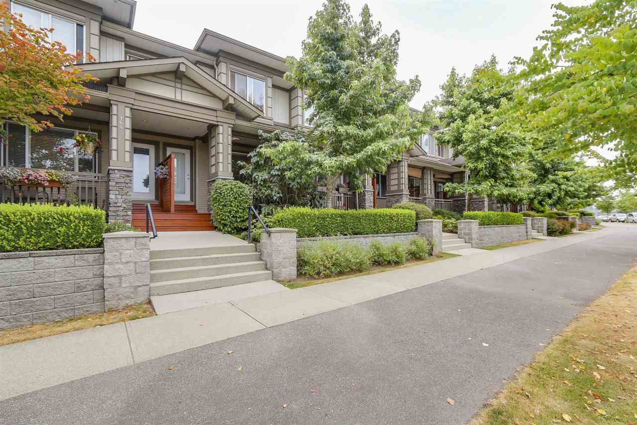 """Main Photo: 163 18701 66 Avenue in Surrey: Cloverdale BC Townhouse for sale in """"Encore at Hillcrest"""" (Cloverdale)  : MLS®# R2191069"""