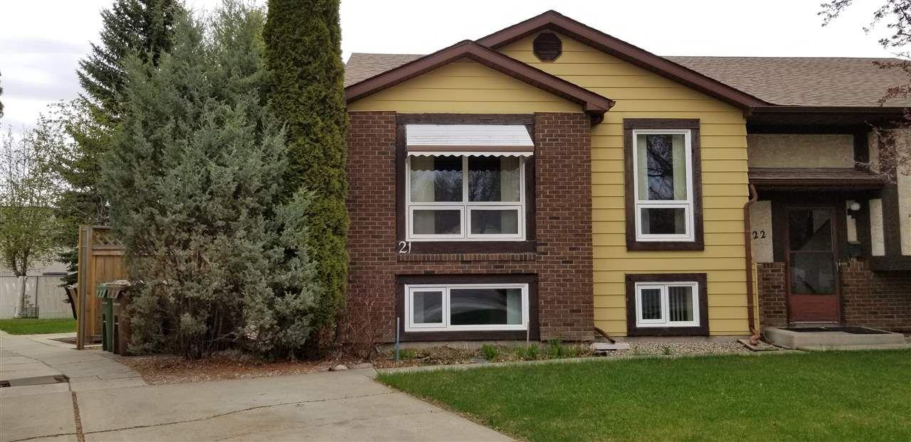 Main Photo: 21 GARETH Place: St. Albert House Half Duplex for sale : MLS®# E4158445