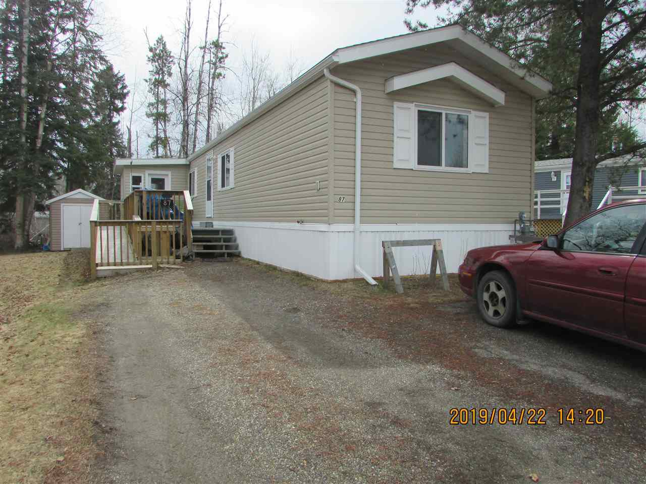 Main Photo: 87 6100 O'GRADY Road in Prince George: Upper College Manufactured Home for sale (PG City South (Zone 74))  : MLS®# R2362177