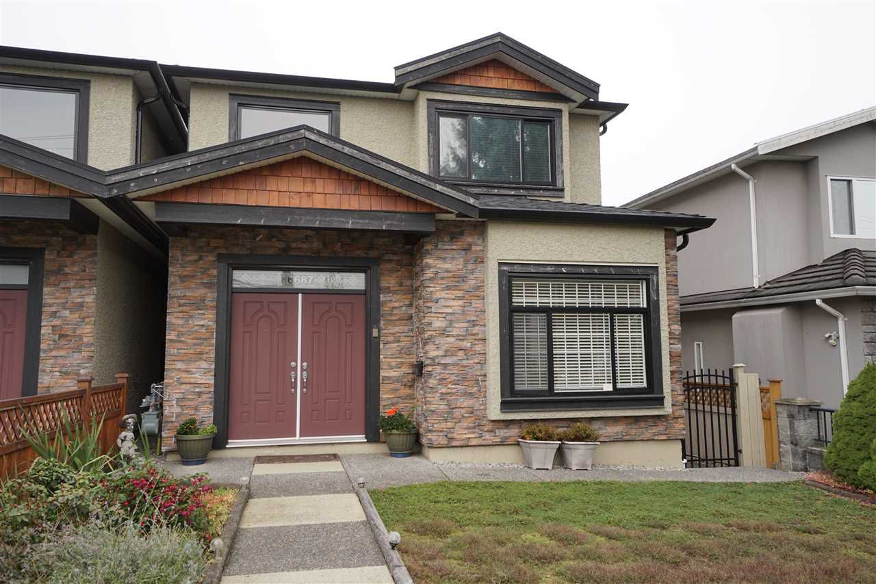 Main Photo: 6687 UNION Street in Burnaby: Sperling-Duthie House 1/2 Duplex for sale (Burnaby North)  : MLS®# R2218690