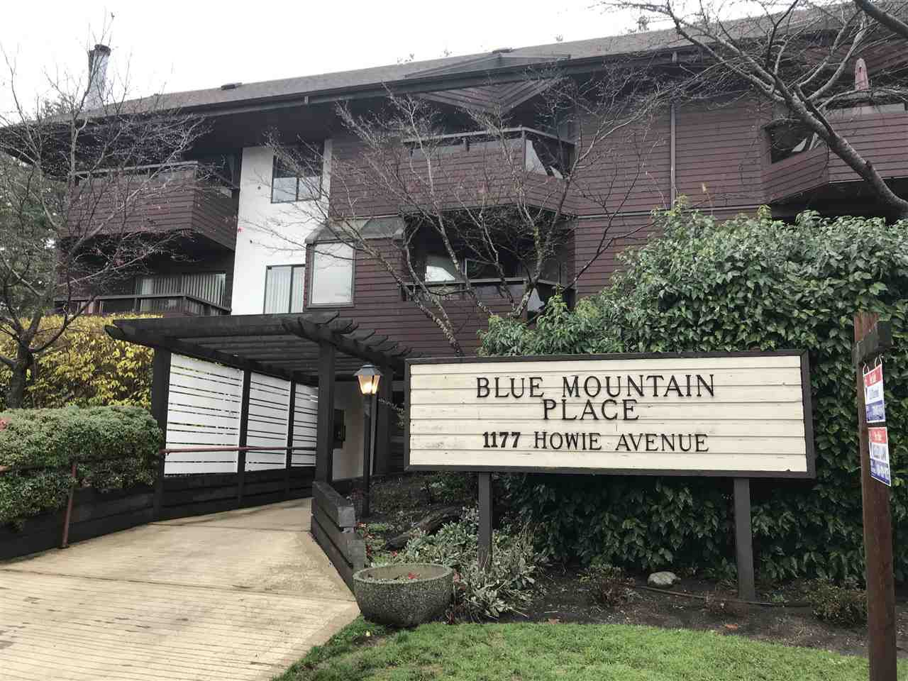 "Main Photo: 102 1177 HOWIE Avenue in Coquitlam: Central Coquitlam Condo for sale in ""BLUE MOUNTAIN PLACE"" : MLS®# R2224908"