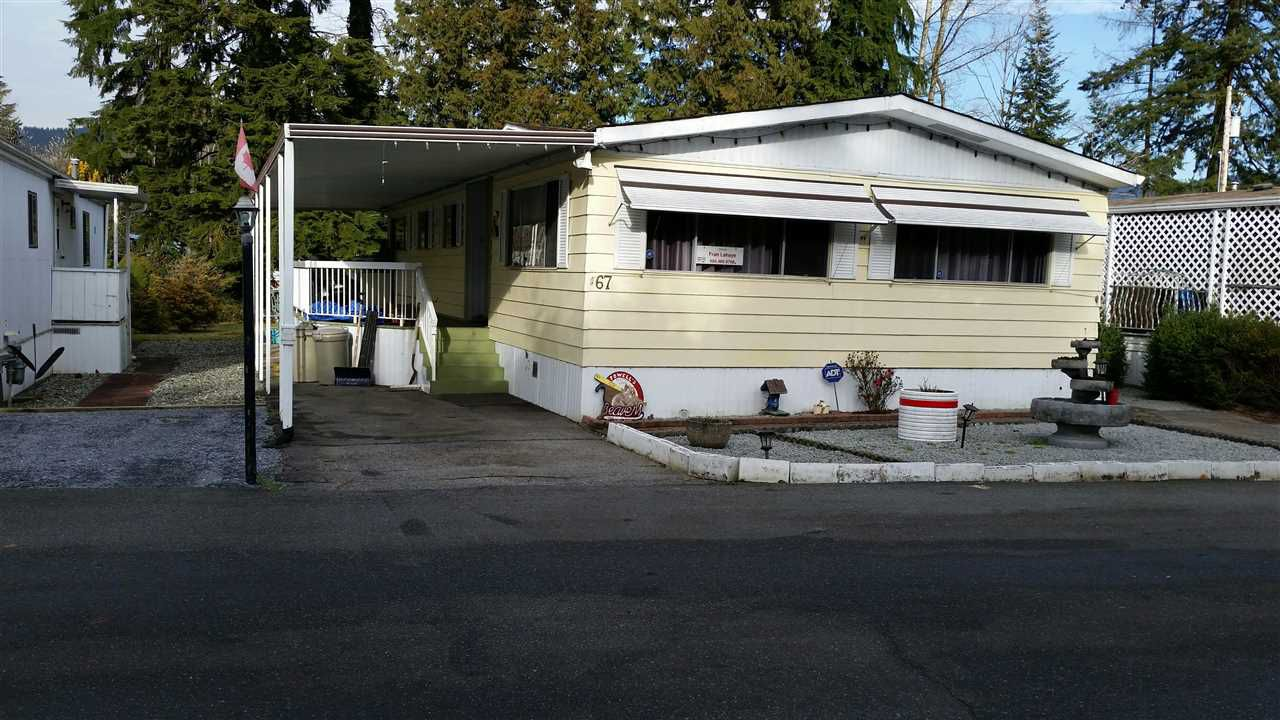 Main Photo: 67 4200 DEWDNEY TRUNK Road in Coquitlam: Ranch Park Manufactured Home for sale : MLS®# R2328685