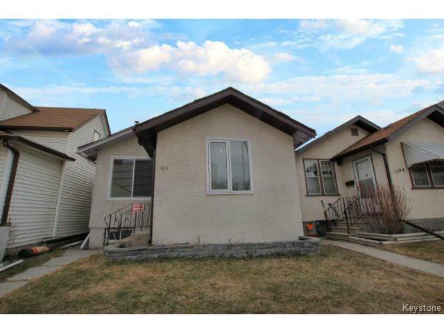 Main Photo: 1152 Garfield Street in WINNIPEG: West End / Wolseley Residential for sale (West Winnipeg)  : MLS®# 1408352
