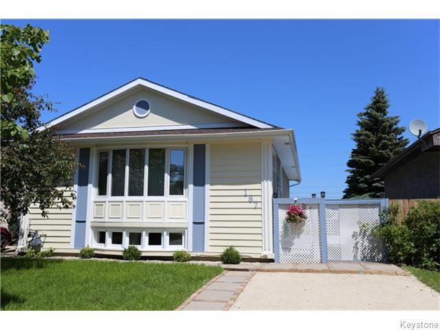 Main Photo: 187 Lynn Lake Drive in Winnipeg: Transcona Residential for sale (North East Winnipeg)  : MLS®# 1617335