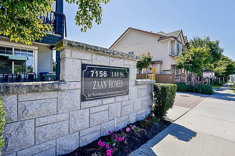 Main Photo: 49 7156 144 Street in Surrey: East Newton Townhouse for sale : MLS®# R2193983