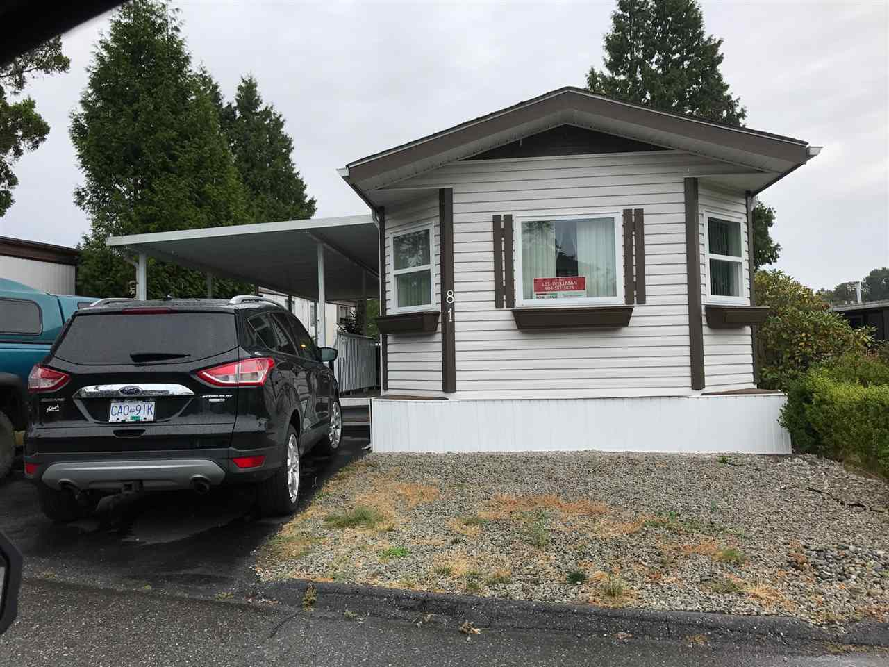 """Main Photo: 81 1840 160 Street in Surrey: King George Corridor Manufactured Home for sale in """"BREAKAWAY BAYS"""" (South Surrey White Rock)  : MLS®# R2203990"""