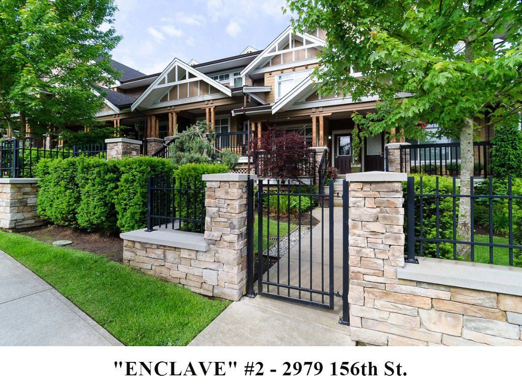 """Main Photo: 2 2979 156TH Street in Surrey: Grandview Surrey Townhouse for sale in """"ENCLAVE"""" (South Surrey White Rock)  : MLS®# F1412951"""