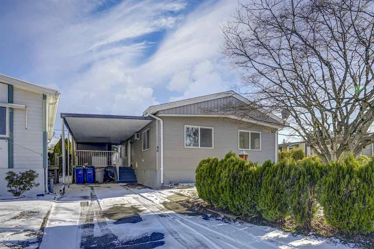 "Main Photo: 46 31313 LIVINGSTONE Avenue in Abbotsford: Abbotsford West Manufactured Home for sale in ""Paradise Mobile Home Park"" : MLS®# R2337850"