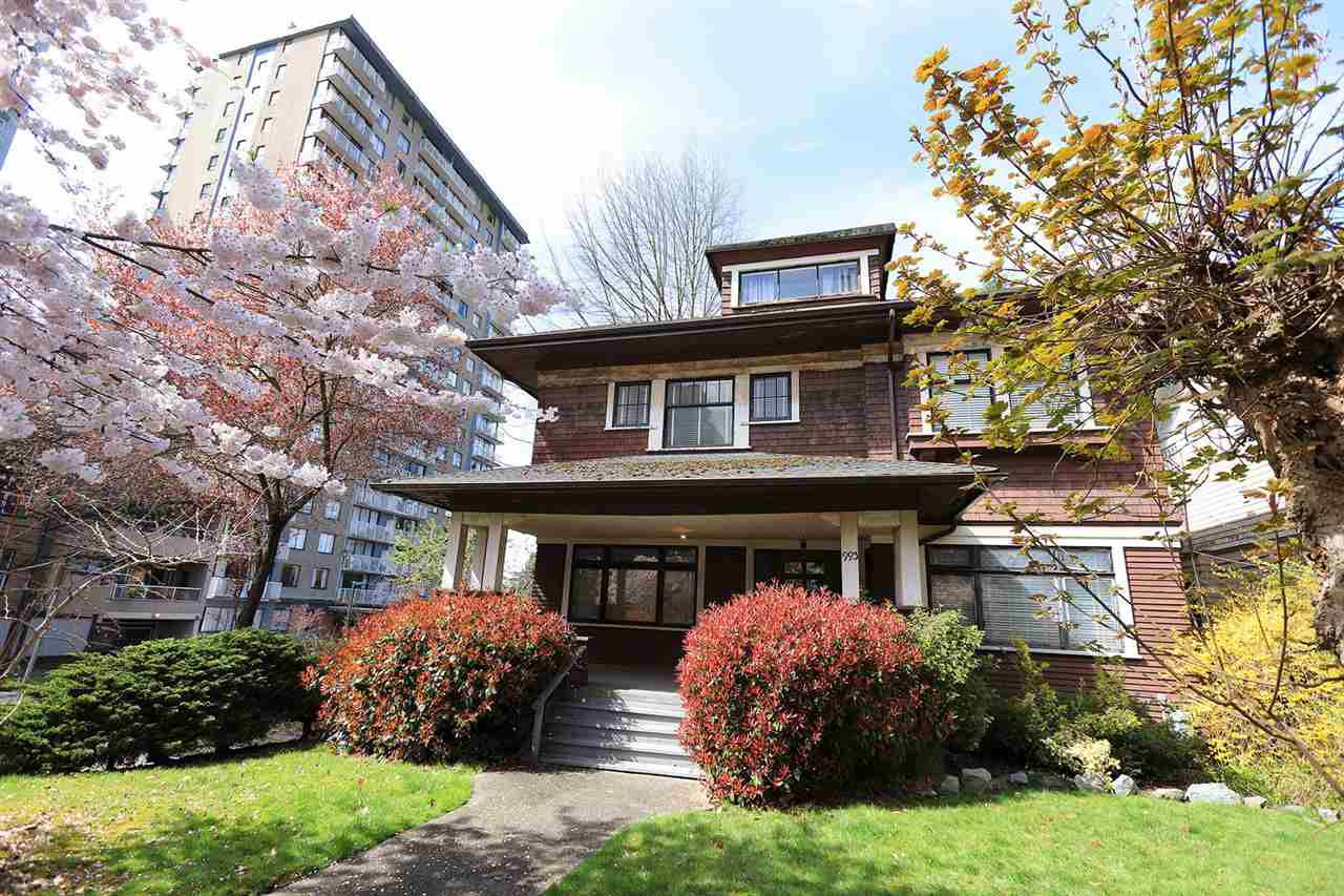 "Main Photo: 993 BROUGHTON Street in Vancouver: West End VW House for sale in ""NELSON SLOPES"" (Vancouver West)  : MLS®# R2356029"