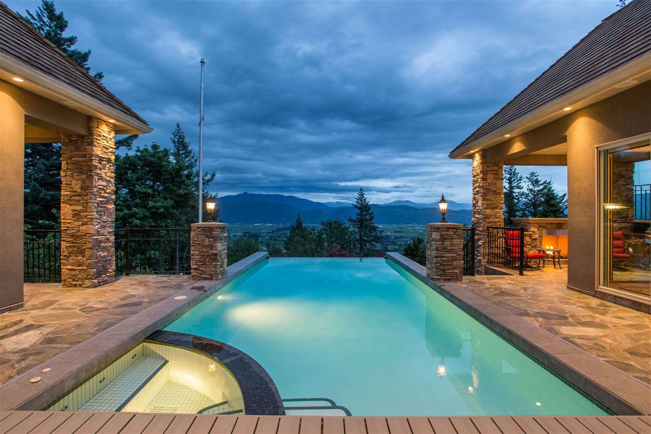Plunge into your infinity edge pool with Mount Baker and the Sumas Prairie beyond....
