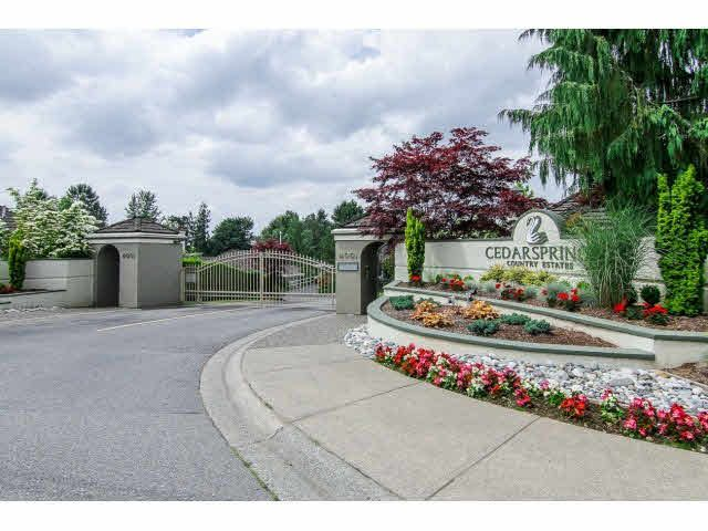 "Main Photo: 31 4001 OLD CLAYBURN Road in Abbotsford: Abbotsford East Townhouse for sale in ""CEDAR SPRINGS"" : MLS®# F1415341"