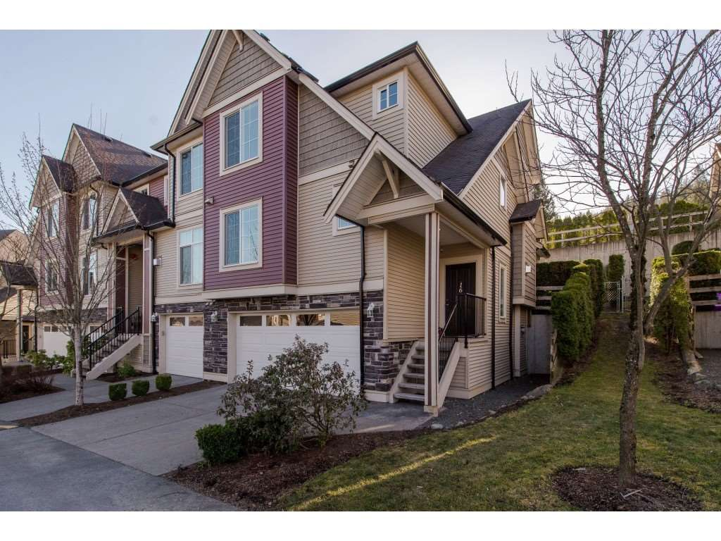 "Main Photo: 16 46832 HUDSON Road in Sardis: Promontory Townhouse for sale in ""Cornerstone Haven"" : MLS®# R2350745"