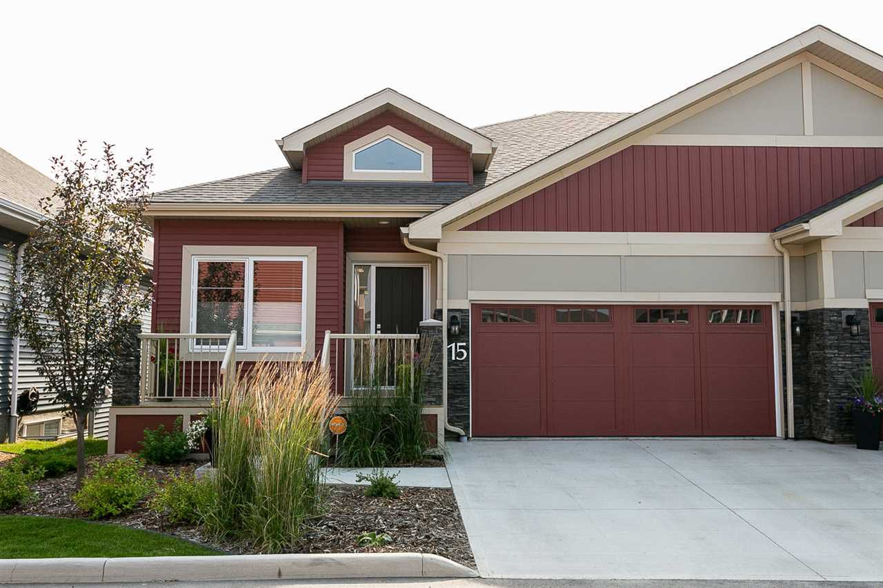 Main Photo: 15 8132 217 Street in Edmonton: Zone 58 House Half Duplex for sale : MLS®# E4149187