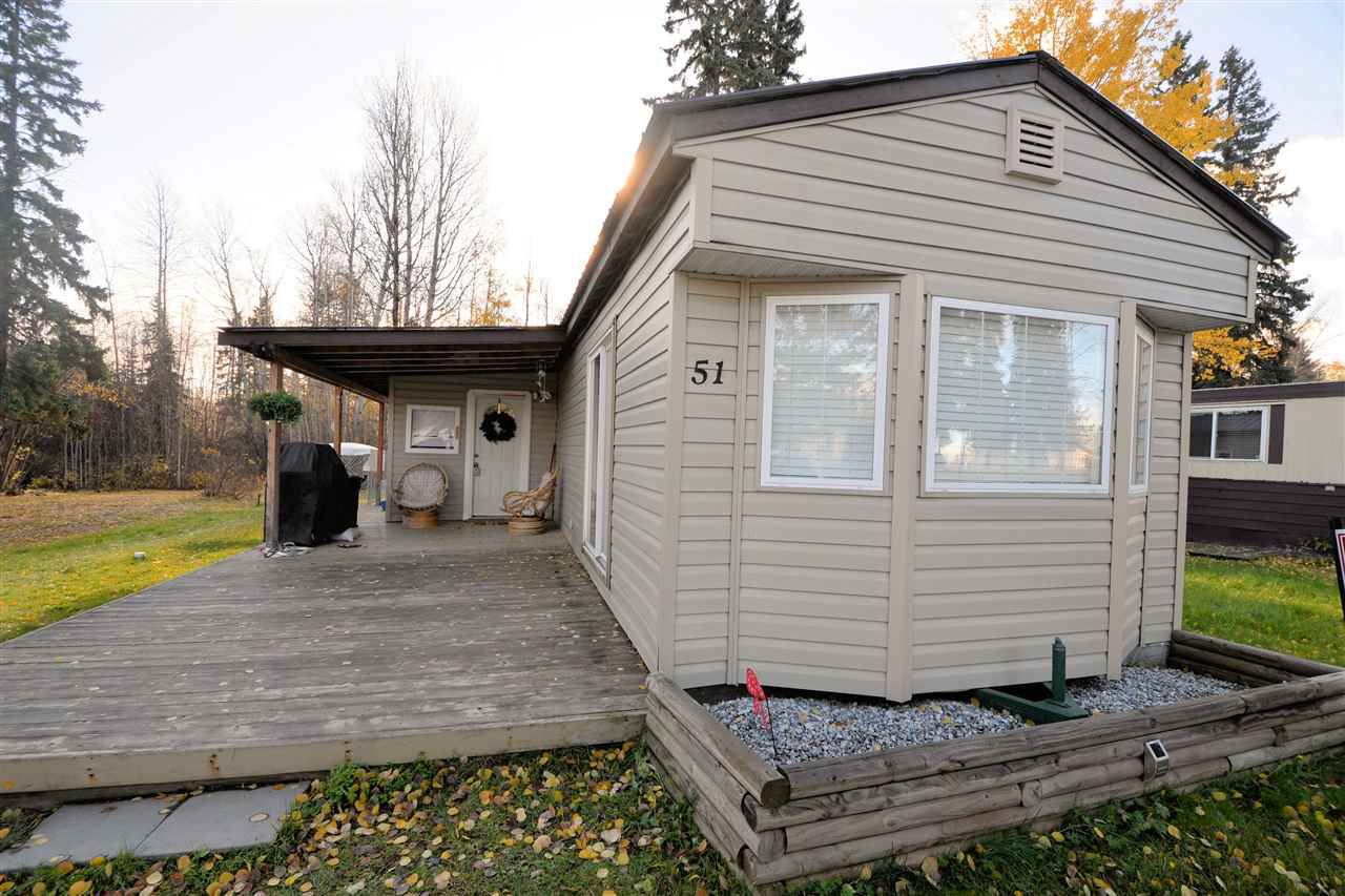 """Main Photo: 51 8474 BUNCE Road in Prince George: Haldi Manufactured Home for sale in """"TRAILER VILLAGE"""" (PG City South (Zone 74))  : MLS®# R2216441"""