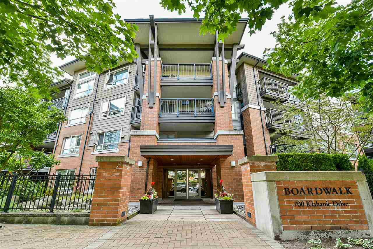 "Main Photo: 313 700 KLAHANIE Drive in Port Moody: Port Moody Centre Condo for sale in ""BOARDWALK"" : MLS®# R2300355"