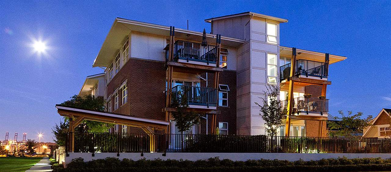 Main Photo: 205 215 BROOKES Street in New Westminster: Queensborough Condo for sale : MLS®# R2255757