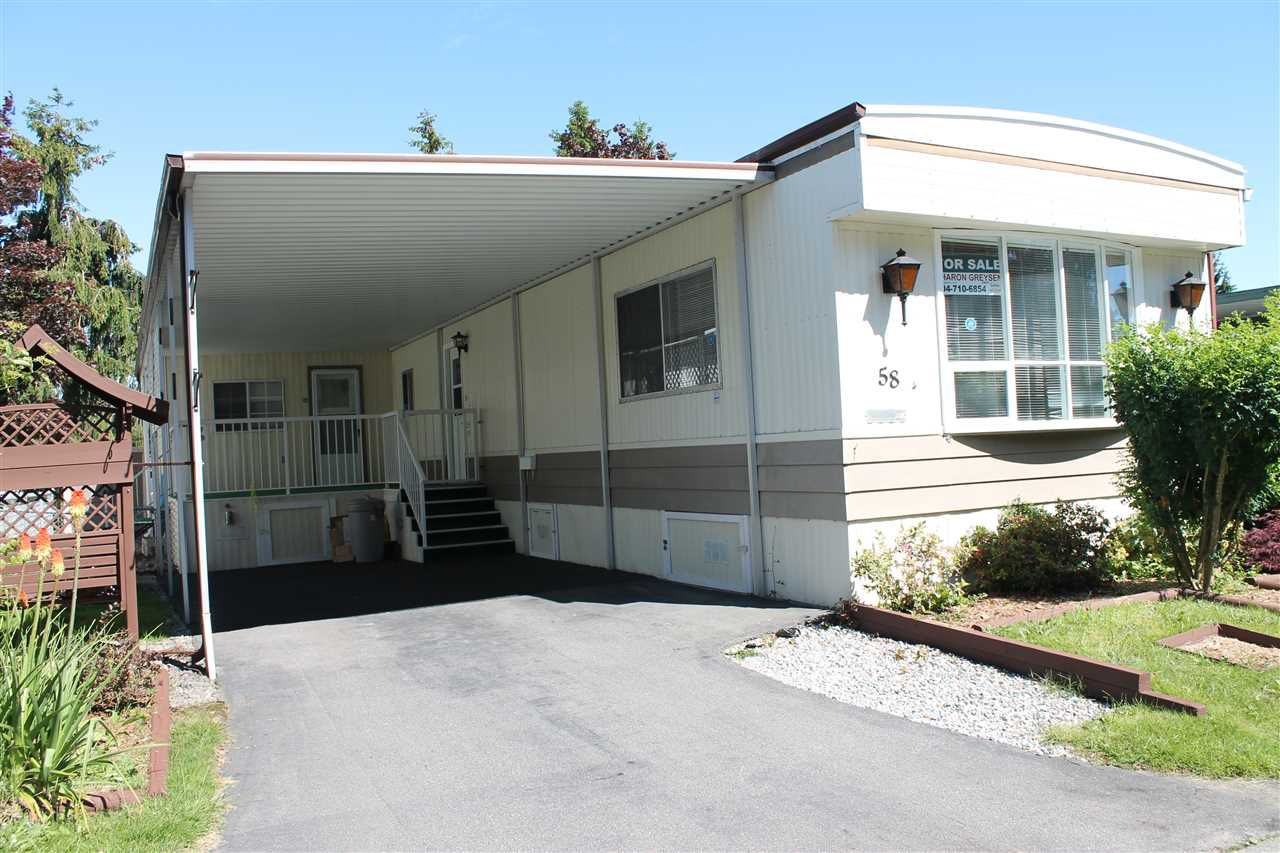 """Main Photo: 58 15875 20TH Avenue in Surrey: King George Corridor Manufactured Home for sale in """"SEA RIDGE BAYS"""" (South Surrey White Rock)  : MLS®# R2178456"""