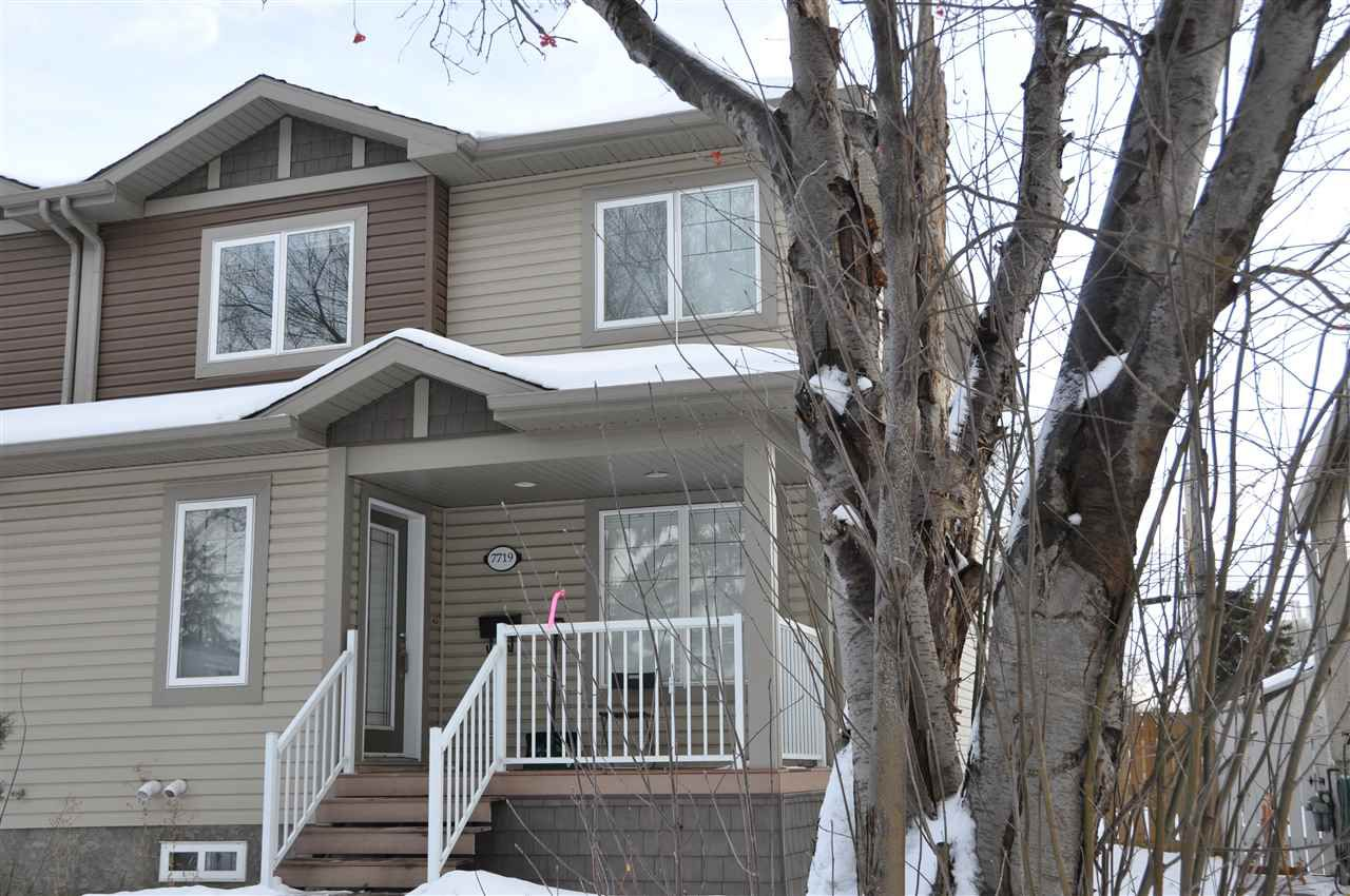 Main Photo: 7719 110 Street in Edmonton: Zone 15 House Half Duplex for sale : MLS®# E4139182