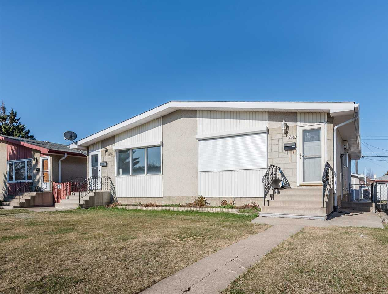 Main Photo: 12916 85 Street NW in Edmonton: Zone 02 House Half Duplex for sale : MLS®# E4154485