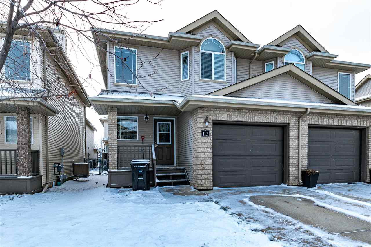 Main Photo: 115 155 CROCUS Crescent: Sherwood Park House Half Duplex for sale : MLS®# E4135076