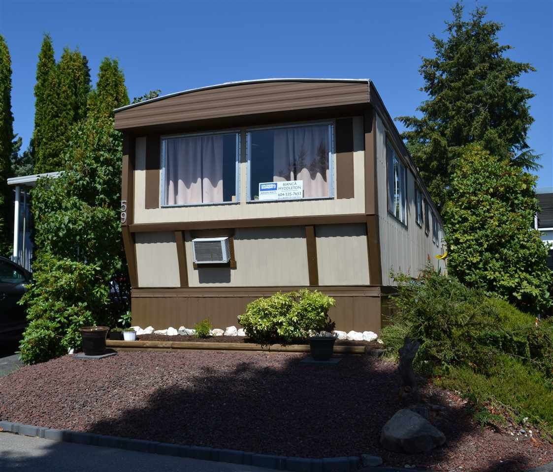 "Main Photo: 59 1840 160 Street in Surrey: King George Corridor Manufactured Home for sale in ""Breakaway Bays"" (South Surrey White Rock)  : MLS®# R2094772"