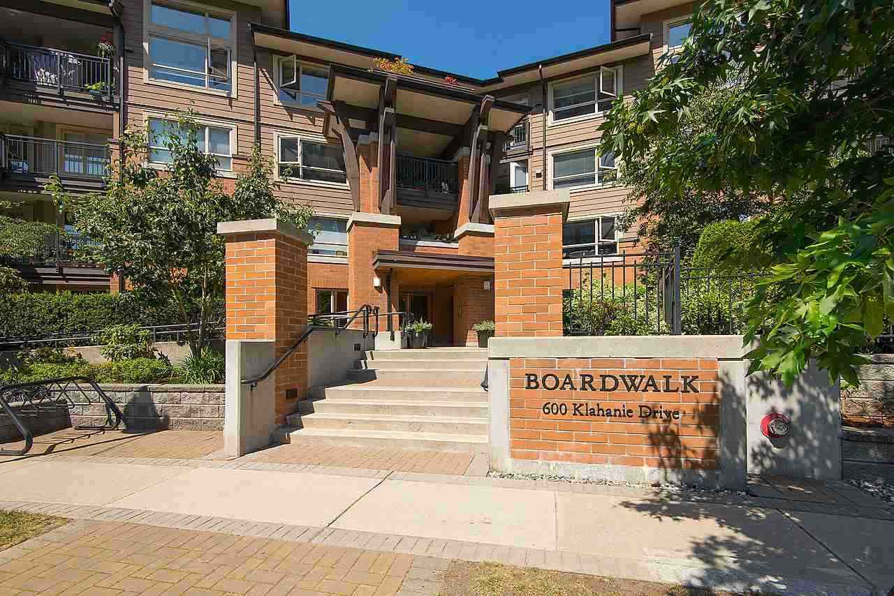 "Main Photo: 415 600 KLAHANIE Drive in Port Moody: Port Moody Centre Condo for sale in ""BOARDWALK"" : MLS®# R2301300"