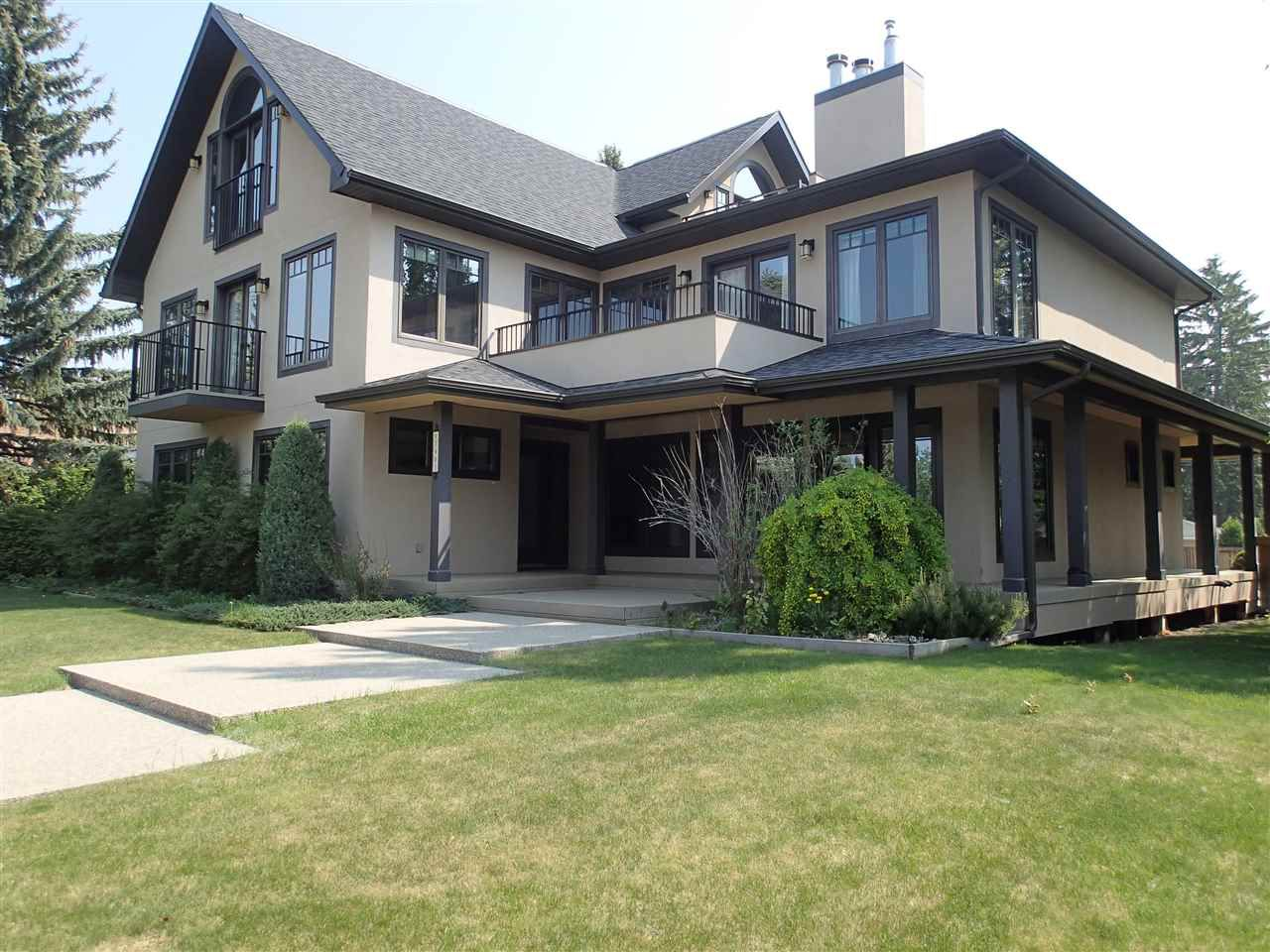 7903 Saskatchewan Dr. Custom built 2 1/2 story offering the best of location, huge lot and quality throughout.