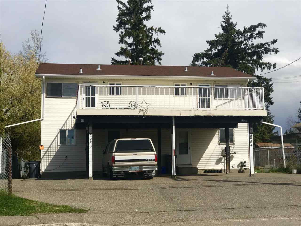 Main Photo: 2980 - 2984 UPLAND Street in Prince George: Perry House Duplex for sale (PG City West (Zone 71))  : MLS®# R2369005