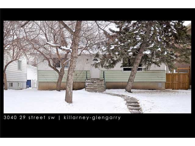 Main Photo: 3040 29 Street SW in CALGARY: Killarney Glengarry Residential Detached Single Family for sale (Calgary)  : MLS®# C3500737
