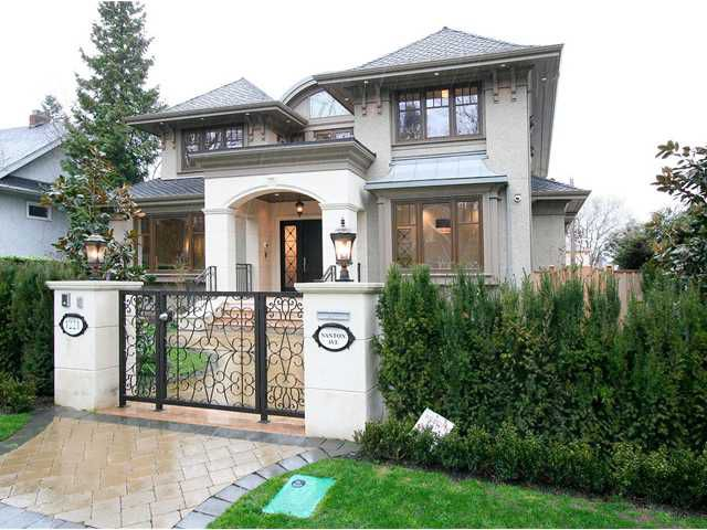 Main Photo: 1221 NANTON Avenue in Vancouver: Shaughnessy House for sale (Vancouver West)  : MLS®# V1039573