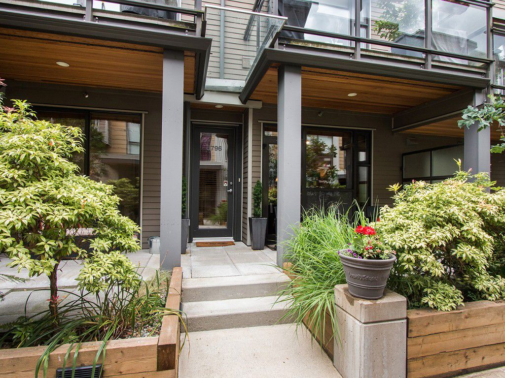 "Main Photo: 3796 COMMERCIAL Street in Vancouver: Victoria VE Townhouse for sale in ""BRIX"" (Vancouver East)  : MLS®# R2090681"