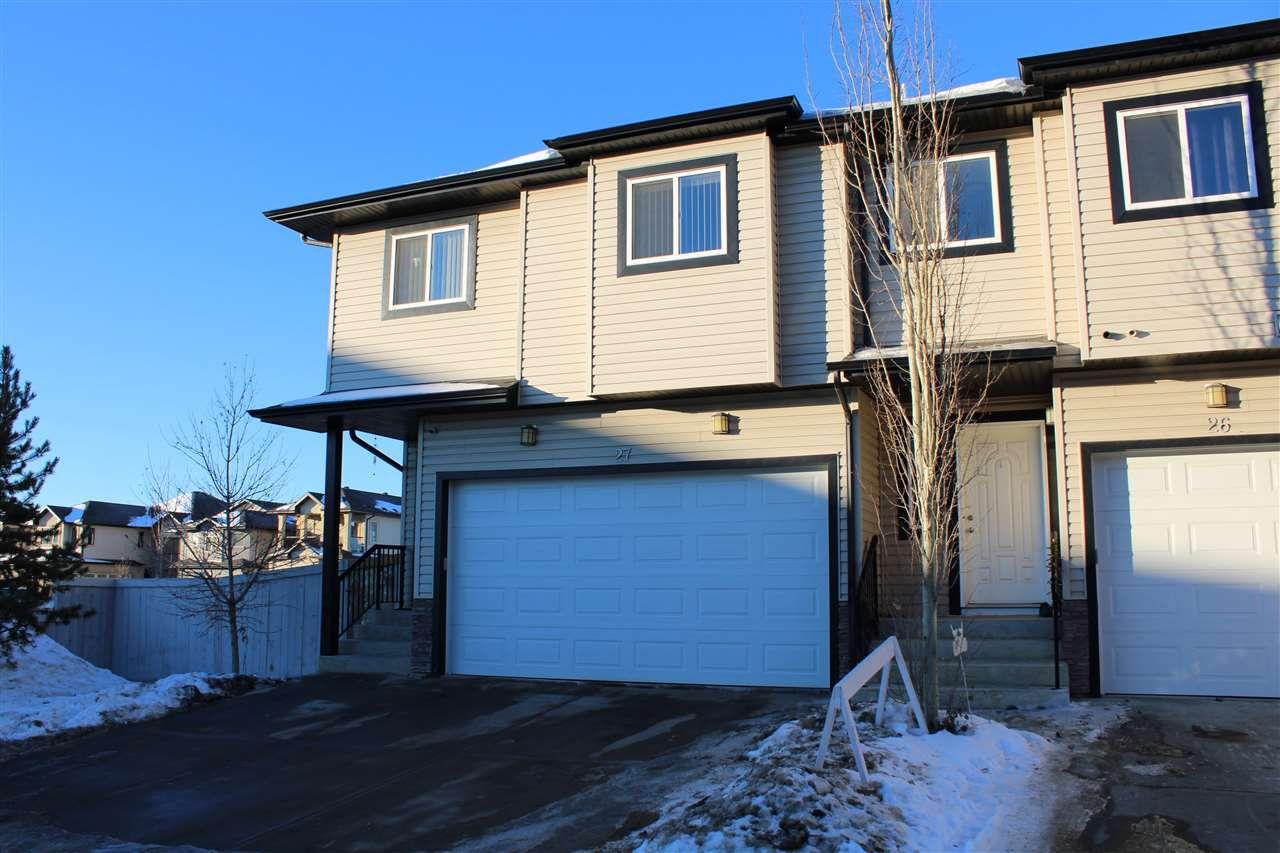 Main Photo: 27 1820 34 Avenue in Edmonton: Zone 30 Townhouse for sale : MLS®# E4137685