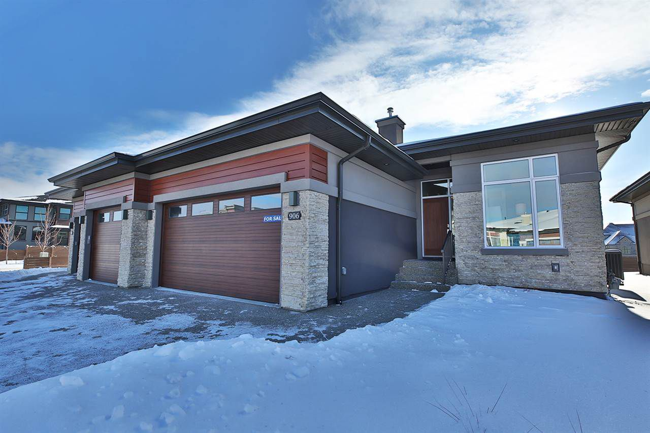 Main Photo: 906 WOOD Place in Edmonton: Zone 56 House Half Duplex for sale : MLS®# E4129605