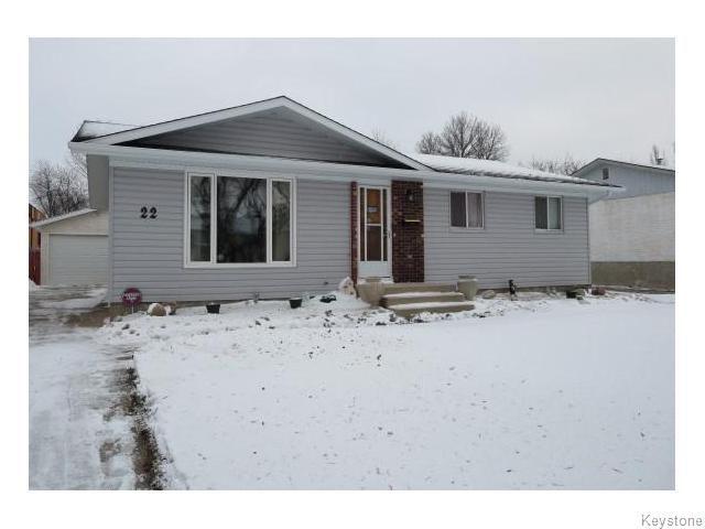 Main Photo: 22 Galbraith Crescent in WINNIPEG: Westwood / Crestview Residential for sale (West Winnipeg)  : MLS®# 1530607
