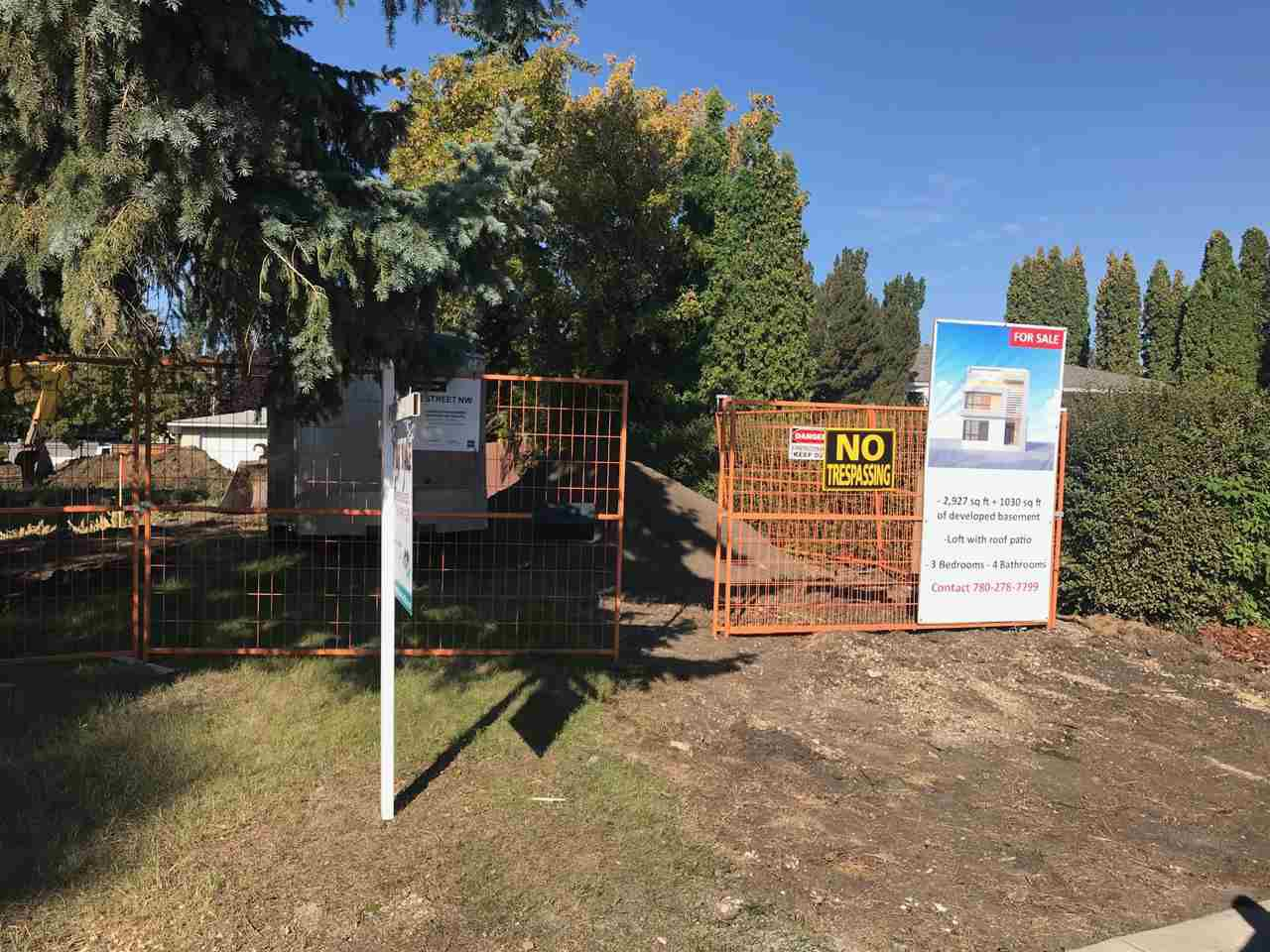 Main Photo: 7814 142 Street in Edmonton: Zone 10 Vacant Lot for sale : MLS®# E4137333