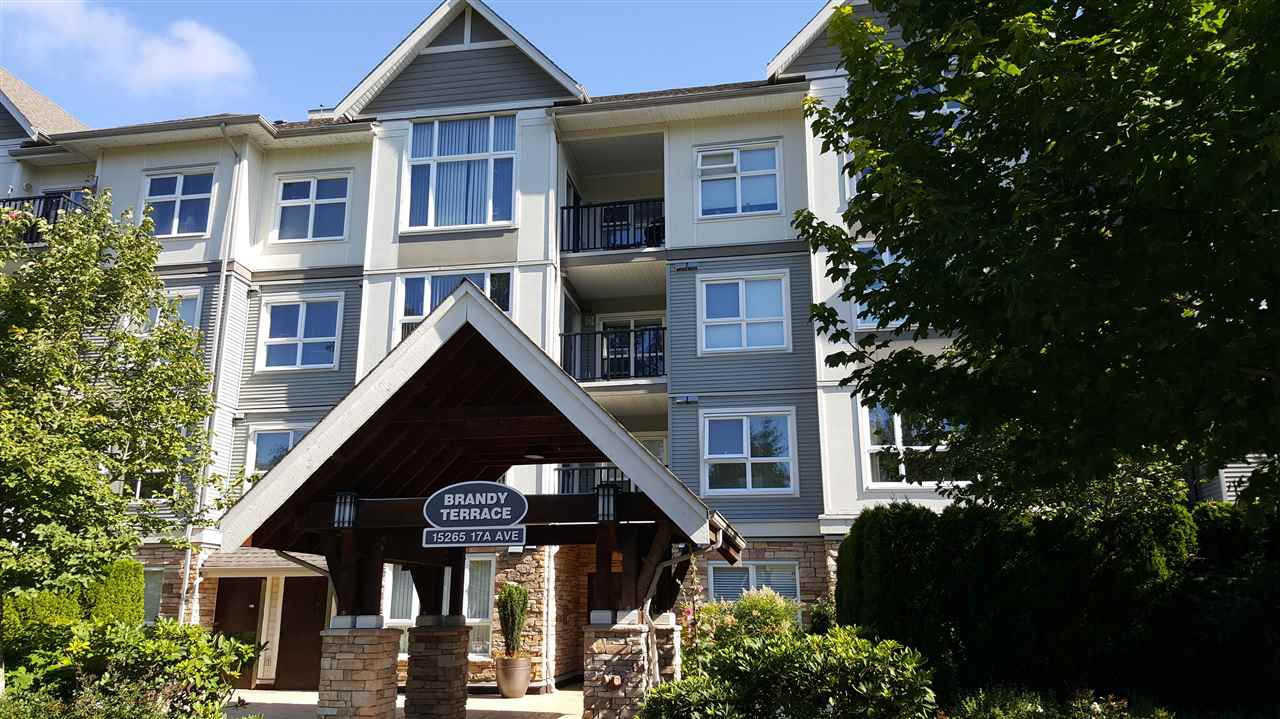 "Main Photo: 408 15265 17A Avenue in Surrey: King George Corridor Condo for sale in ""Brandy Terrace"" (South Surrey White Rock)  : MLS®# R2089964"