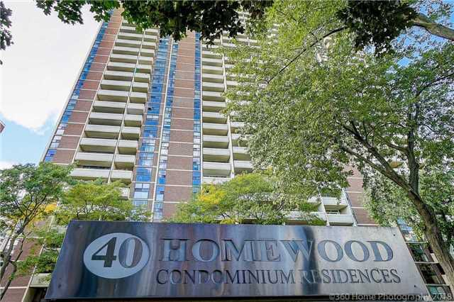 Main Photo: 607 40 Homewood Avenue in Toronto: Cabbagetown-South St. James Town Condo for sale (Toronto C08)  : MLS®# C4276520