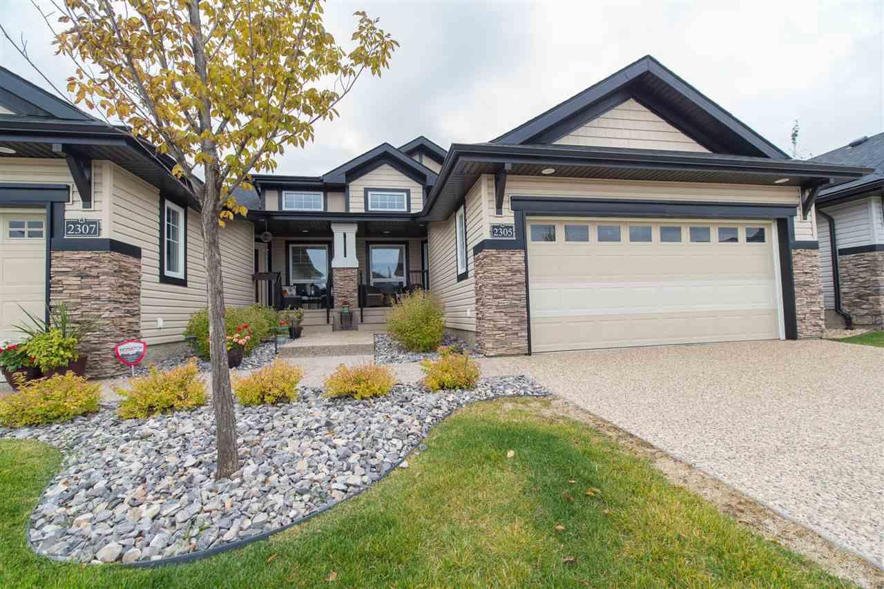 Main Photo: 2305 ASHCRAFT CAPE SW in Edmonton: Zone 55 House Half Duplex for sale : MLS®# E4143999