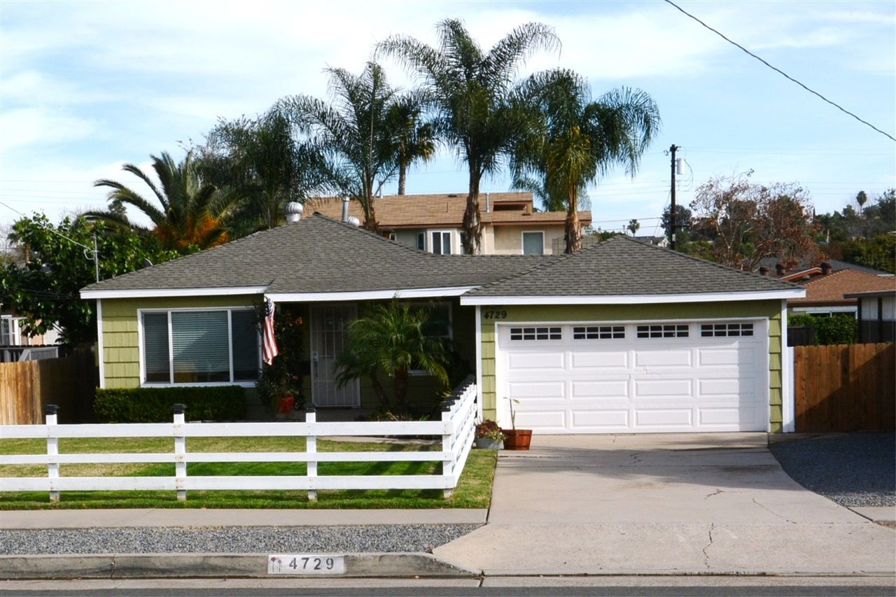 """Colony Way... an """"Old La Mesa"""" Westside neighborhood that is close to everything... and here is a Treasure.  Large Flat Useable yard, Large Two Car Garage, Bonus Room/Optional 3rd bedroom and Off Street 6 car or RV Parking."""