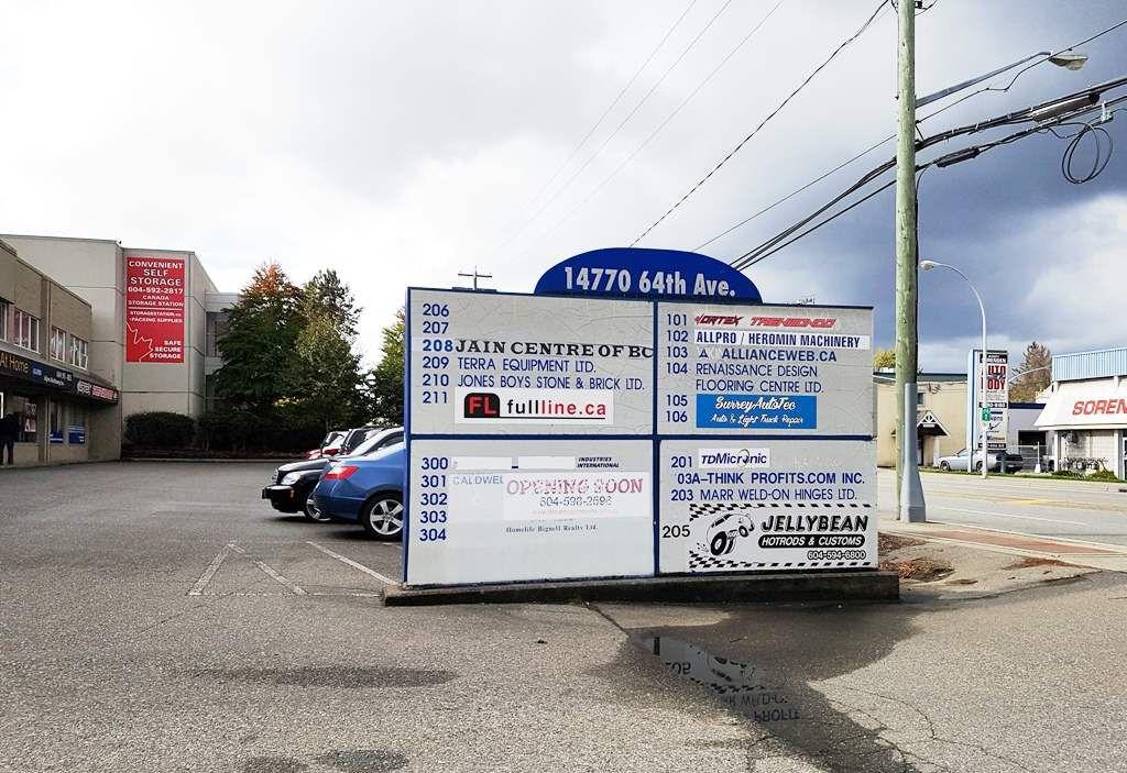 Main Photo: 304 14770 64 Avenue in Surrey: Sullivan Station Office for sale : MLS®# C8015470