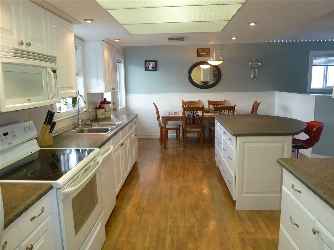 with a kitchen big enough that everyone can pitch in to get that birthday meal on the table