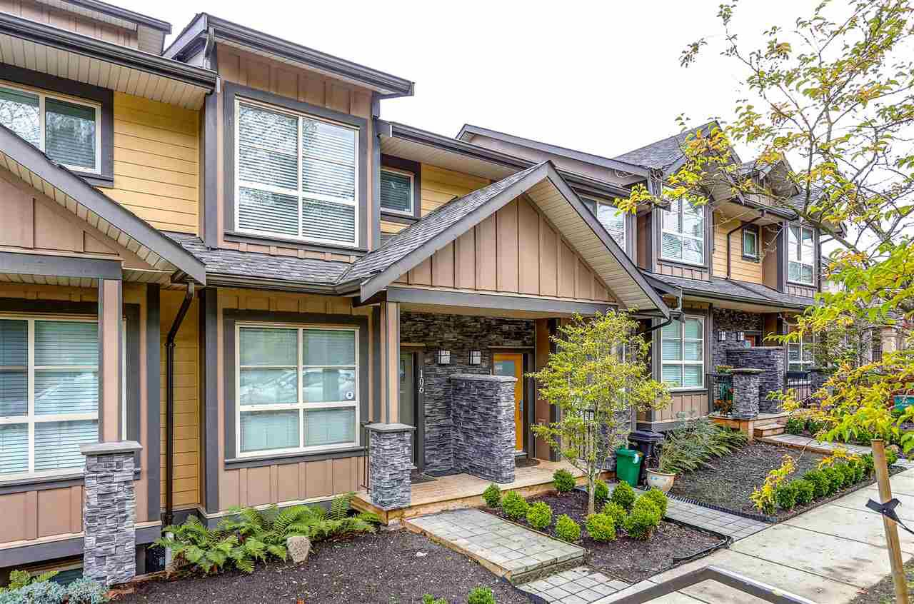 "Main Photo: 106 1418 CARTIER Avenue in Coquitlam: Maillardville Townhouse for sale in ""Cartier Place"" : MLS®# R2013436"