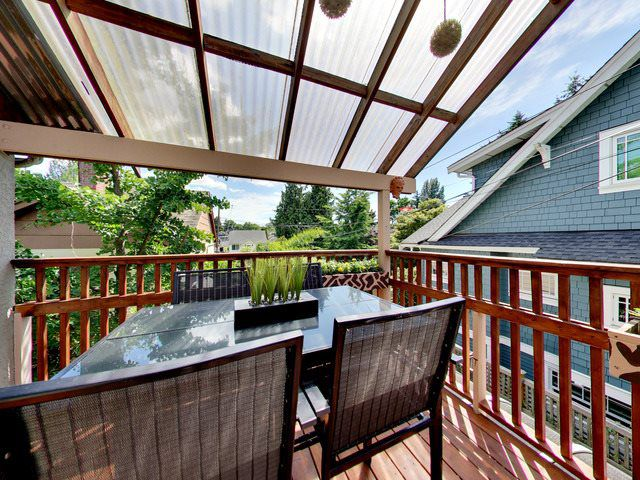 Large Deck off of the Main floor Kitchen/Dining area