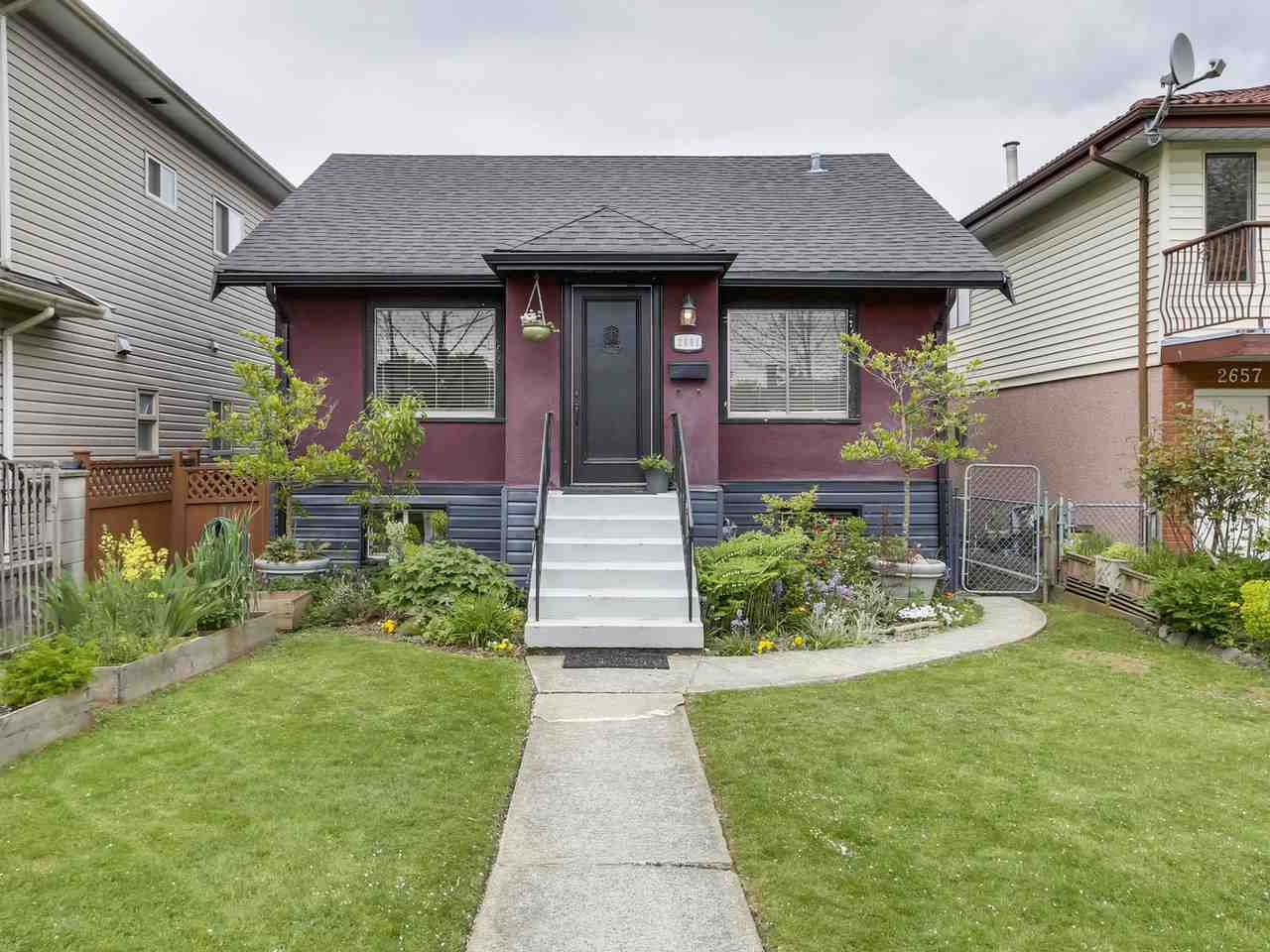 Main Photo: 2651 VENABLES Street in Vancouver: Renfrew VE House for sale (Vancouver East)  : MLS®# R2266027