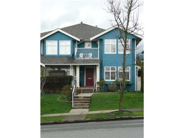 Main Photo: 340 W 14TH Street in North Vancouver: Central Lonsdale House 1/2 Duplex for sale : MLS®# V880993