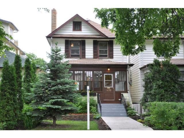 Main Photo: 470 Rosedale Avenue in WINNIPEG: Manitoba Other Residential for sale : MLS®# 1112391